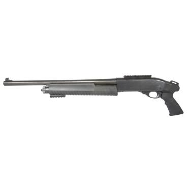 "MB3-R 12 GA PUMP SHOTGUN WITH BLADE  SIGHT 18.5"" BBL RECEIVER RAIL W/ ATI PISTOL GRIP AND FOLLOWER"