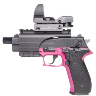 "GSG FIREFLY  HGA .22LR PINK 4.9"" BL THREAD 10RD - PINK W/ BRIDGEMOUNT AND DUOSIGHT"