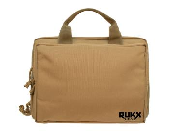ATI DOUBLE PISTOL CASE TAN RUKX GEAR