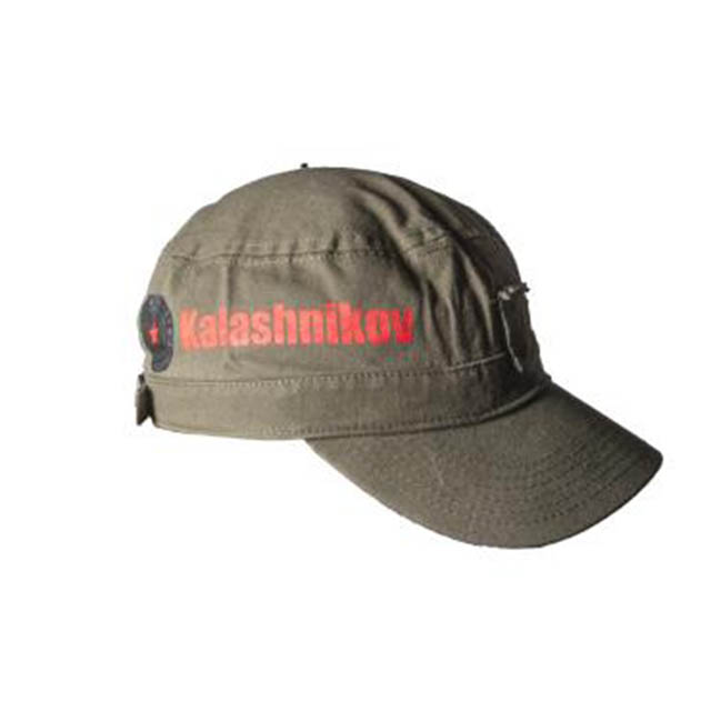 GERMAN SPORT GUNS GREEN CANVAS AK-47 HAT ADJUSTABLE SIZE